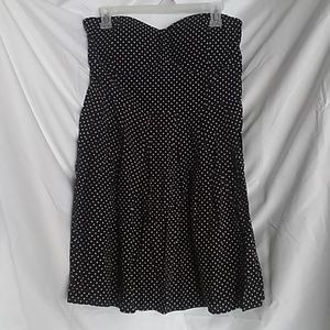 NWT Polka Dot Strapless Dress
